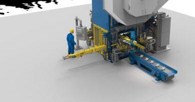 Closed-die forging press for aluminium automotive components